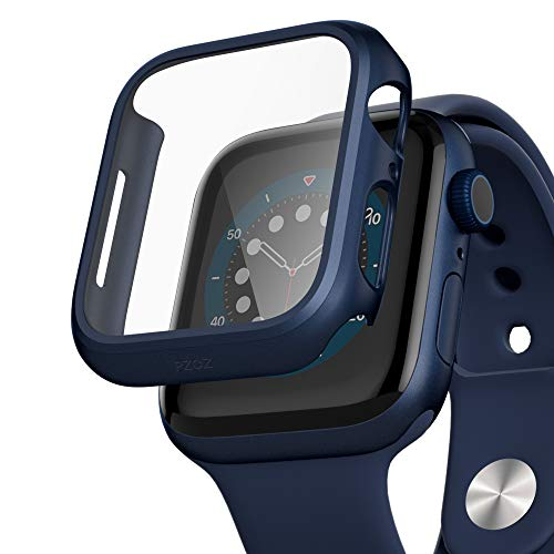 pzoz Compatible for Apple Watch Series 6/5 /4 /SE 40mm Case with Screen Protector Accessories Slim Guard Thin Bumper Full Coverage Matte Hard Cover Defense Edge for Women Men GPS iWatch (Blue)