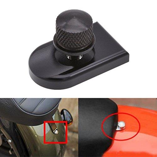 KaTur Runde / Rändel eloxiert schwarz Billet Aluminium Mount Sitz Schraube Schraube Rändelschraube für Harley Davidson 1996-2015 Dyna Street Bob