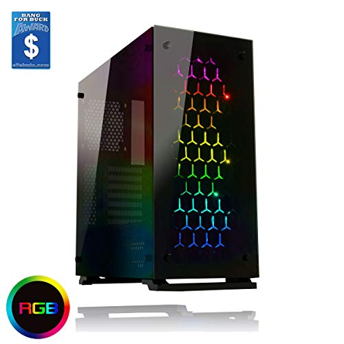 Gamemax ONYX RGB Mid Tower ATX PC Case with 3 x RGB Fan and Tempered Glass Side and Front - Black