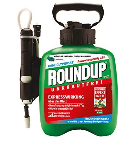 Roundup Express Fertigmischung im Drucksprüher zur Bekämpfung von Unkräutern und Gräsern im Garten, 2,5 L