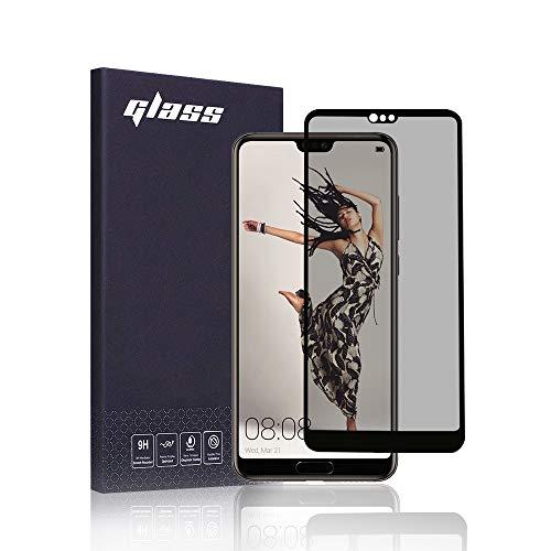 FiiMoo Protector de Pantalla Privacidad Compatible con Huawei P20 Pro, Anti Espía Cristal Templado [Cobertura Completa] [Dureza 9H ] Privacy Vidrio Templado para Huawei P20 Pro
