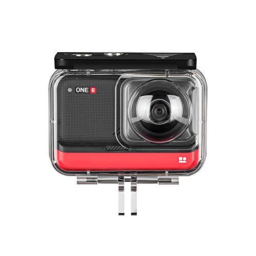 TELESIN 45 M carcasa subacuática cubierta protectora impermeable para Insta360 ONE R/4K 360 Edition cámara caso accesorios (para ONE R 360 Edition)