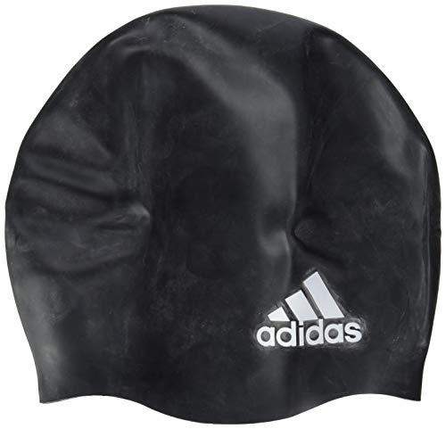 adidas Badekappe Silikon Logo Swimming Cap, Black/White, NS