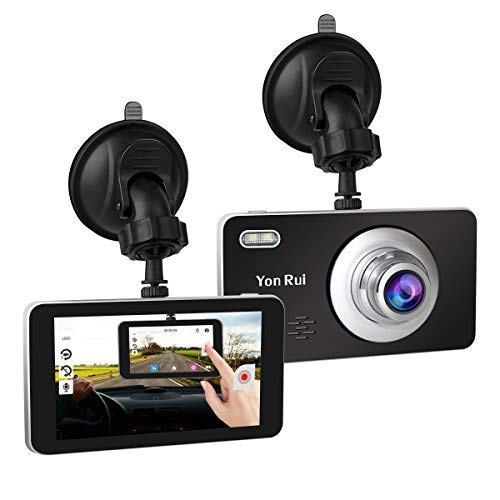 Dash Cam 4'' Touch Screen 1080P HD Car Camera 170° Wide Angle Dashboard Camera with G-Sensor. Motion Detection, Loop Recording Camera Recorder