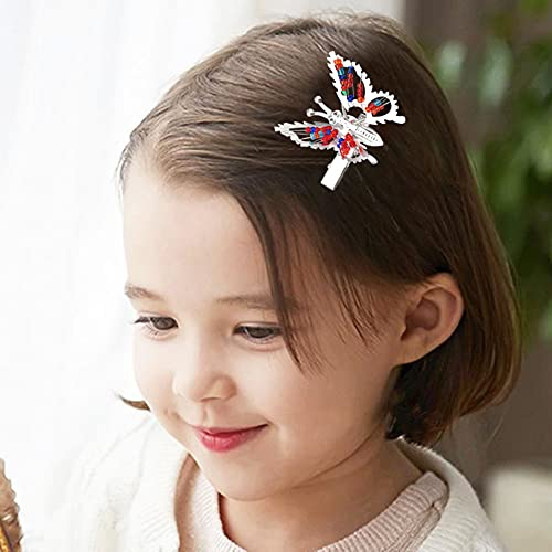 Butterfly hair clips with moving wings _image0