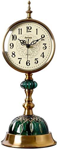 J-Clock Reloj de Mesa de Metal clásico, Reloj de Estilo Retro, Relojes de Escritorio Personalizados, decoración de Muebles para el hogar, candado de Escritorio