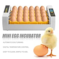 Gang-LL チキン家禽ウズラのトルコの卵の家の使用自動卵の旋盤のための大容量の実用的な24の卵のミニインキュベーター