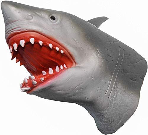 Yolococa Marioneta de Mano de Tiburón Cabeza de Animal Realista de Goma Suave Regalos Juguetes para Niños Shark Puppets
