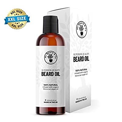 Beard Oil - Mr Beard & Co Premium Beard Oil for Beard Conditioning - Treatment for Fast Beard Growth - 100% Natural and Organic - Hand Blended and Vegan Friendly - 100ml Bottle