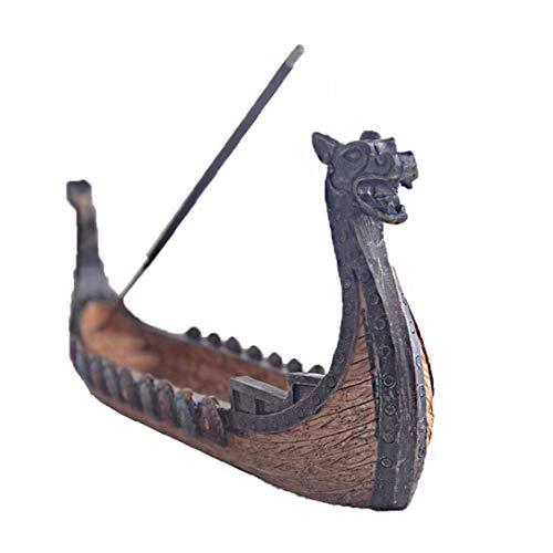 Räucherstäbchen Halter Drachenboot Räucherstäbchen Burner Hand Geschnitzt Censer Ornaments Desktop-Dekorationen