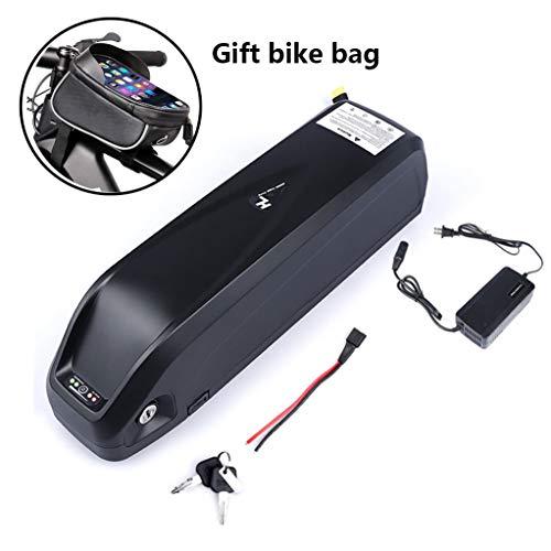 GSS-Table Bicicleta eléctrica de la batería, la batería eléctrica de la Bicicleta con Puerto USB y Bolso de la Bici, 48V 16Ah súper Capacidad de 250W 500W 750W 800W 1000W Motor,48V 16AH