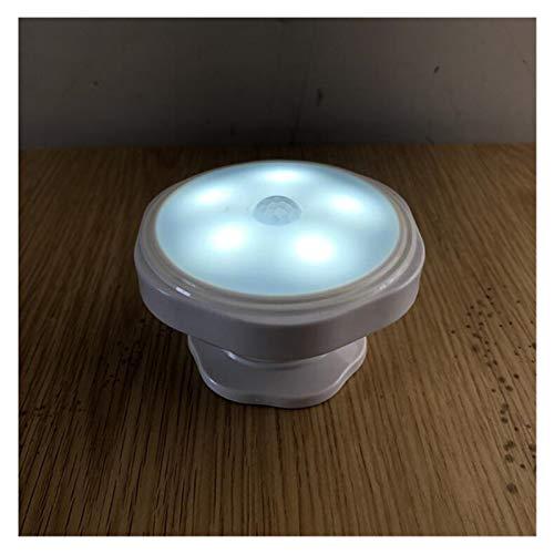 JSJJARF Lámpara de Pared Lámpara de Pared LED de la Noche de Seguridad Luz del Sensor de Movimiento for el Dormitorio escaleras de Cocina Luces (Color : No Battery, Emitting Color : White)