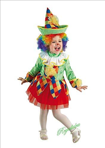 PRESTIGE & DELUXE Costume Vestito Carnevale  ARLECCHINO Girl  Taglia 2 3 4 5 6 Anni (2 Anni: Altezza Bimba/o 92 cm)