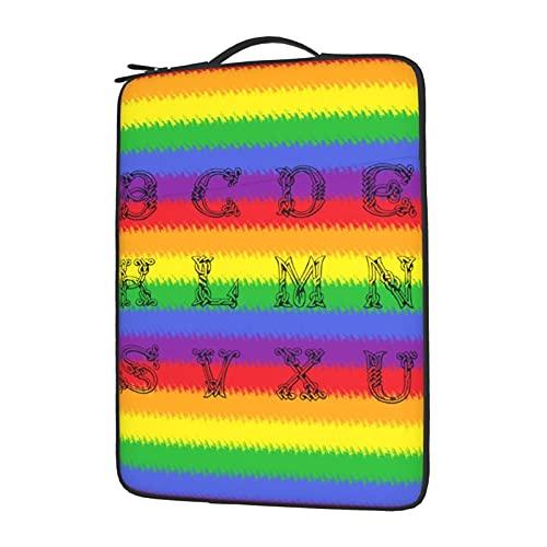 YXJK Rainbow - Funda de papel digital para portátil de 13 pulgadas, compatible con iPad, MacBook Pro, MacBook Air, ordenador portátil, poliéster repelente al agua