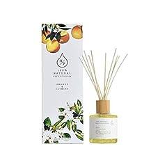 HPリードディフューザー 100%天然香料 ルームフレグランス (オレンジ&ジャスミン)