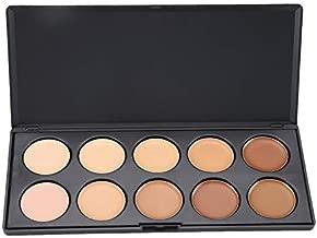 Vodisa 10 Colour Makeup Contour Palette-Cream Concealer Kit- Blemish Face Contouring Highlighter Palette- Sleek Cosmetics Professional Base Foundation Beauty Make up Cream Makeup Blemish Pallet
