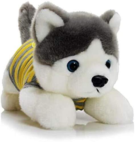 DINEGG Sibirischer Husky-Puppe Plüschtier-Hund-Hund □□ schlafendes schlafendes schlafendes Kissen Niedlicher Lappenpuppe gelb 46cm YMMSTORY