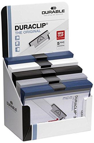 Durable 298500 pantalla de mostrador con 50 carpetas de clips Duraclip