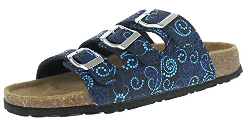 Softwaves 274 138 Damen Clogs & Pantoletten, Schwarz (navy multi 897) (41)
