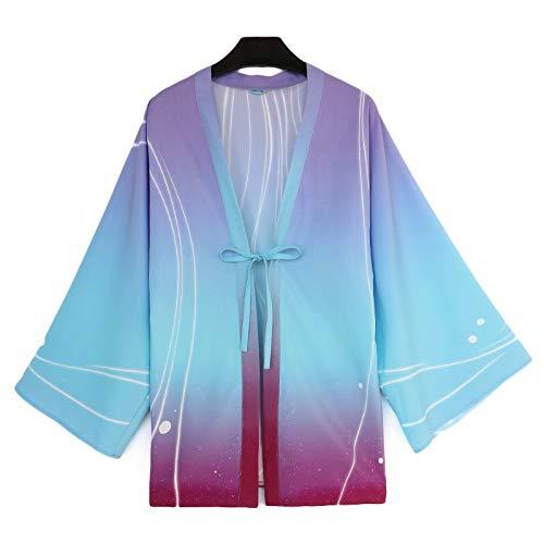 Kimono informal japonés Yukata Natsume Libro de Amigos Natsume Takashi Haori Yuujinchou Hombres Mujeres Capa Cosplay Disfraz