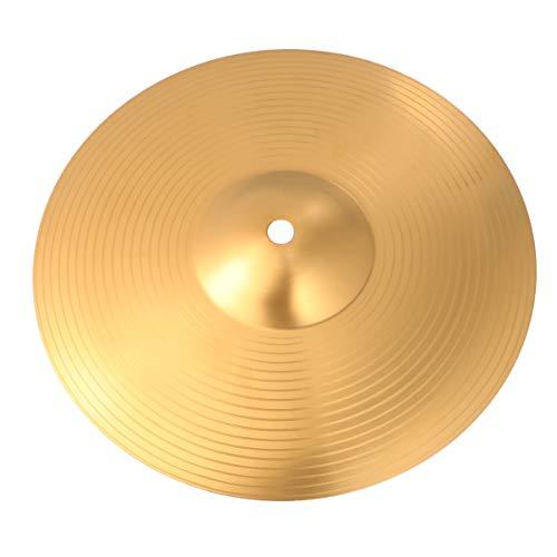 EXCEART Hi Hat Becken Crash/Ride Becken Messing Stabiles Hi-Hat Becken für Schlagzeugspieler Percussion Drum, 25,4 cm