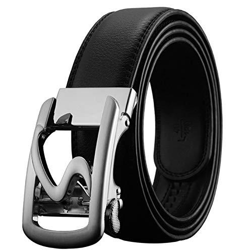 MGHN Cinturón De Hebilla De Aleación Automática De Los Hombres De Cuero Resistente Al Desgaste Cinturones Piel Hombre (Belt Length : 120CM)