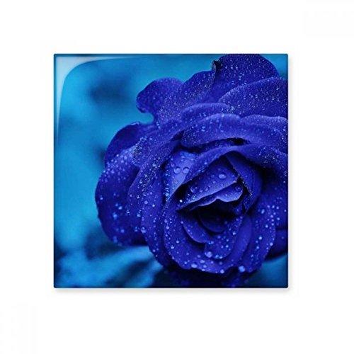 Azul oscuro rosas flores de cerámica crema decoración de azulejos baño cocina azulejos de pared azulejos de cerámica