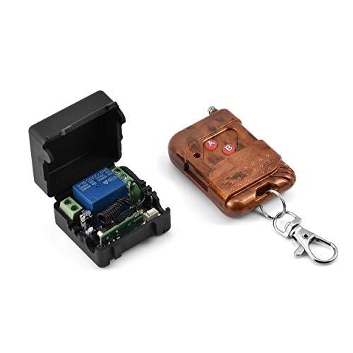 12 V draadloze relais-afstandsbedieningsschakelaar voor deuren of andere schakelaars Relais-afstandsbedieningsschakelaar Een automatische schakelaar voor automatische bediening met zelfvergrendeling en leerfunctie