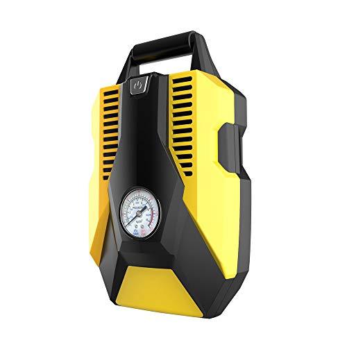 CWWHY Pompe de compresseur d'air portatif, Pompe à air de Voiture Double Cylindre ménage 12V Pompe électrique Pneu d'urgence Voiture Pompe Affichage numérique,Standard,Pointer