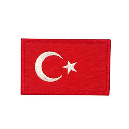 Cobra Tactical Solutions Flagge Türkei Turkey Military Besticktes Patch mit Klettverschluss für Airsoft Cosplay Paintball für Taktische Kleidung Rucksack