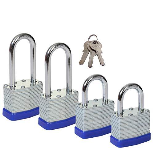 SEPOX Laminated Steel Lock 1-9/16-inch(40mm) (40mm 2 Pack Waterproof)