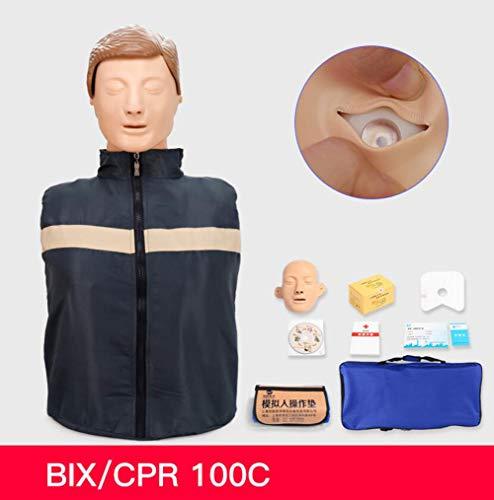 YYSDH Künstliche Atmung Medizinische Modell Halber Körper Reanimation Simulator Pre-Krankenhaus Erste Hilfe Schaufensterpuppe Pflegemodell,A