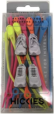 HICKIES 1 0 Original Unisex One Size Fits All Elastic No Tie Shoelaces Neon Multi product image