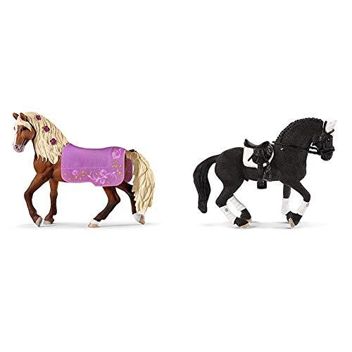 Schleich 42468 Horse Club Spielset - Paso Fino Hengst Pferdeshow, Spielzeug ab 5 Jahren & 42457 - Friese...