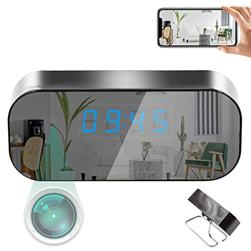JLRKENG Clock Camera HD 1080P Baby Pet Monitor with Motion Detection Alarm, WiFi, Night Vision, Real-time Video, Wireless Nanny Cam for Home and Office.