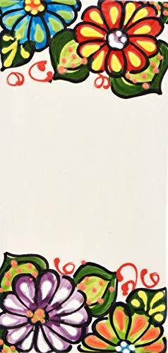Letreros con numeros y letras en azulejo de ceramica hechos y pintados a mano, para placas con nombres, direcciones y señaléctica. Texto personalizable. Diseño JARDIN 14,5 cm x 7 cm. ESPACIO 'BLANCO'