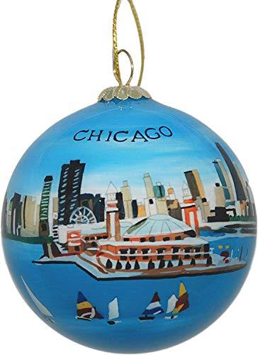 Chicago Navy Pier Skyline Ornament
