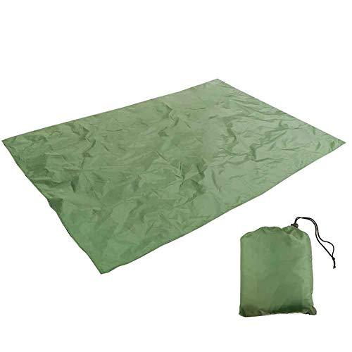 KOET - Lona de acampada, impermeable, multiusos, con bolsa de almacenamiento, portátil a prueba de humedad, manta de picnic para exteriores, viajes, picnic, playa, No nulo, Verde militar, Tamaño libre