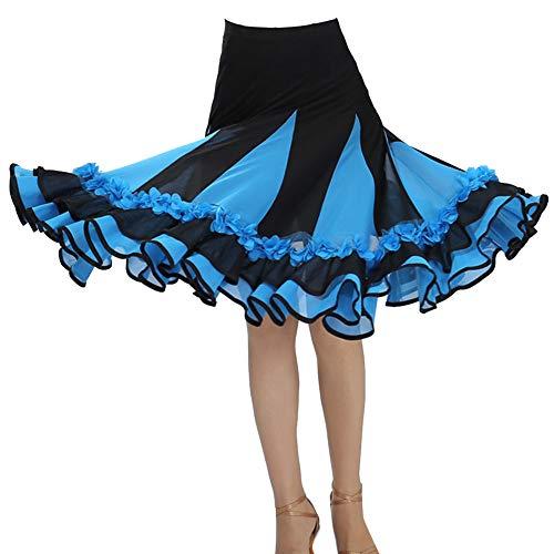 Guiran Mujer Flores Faldas Plisada De Baile De Salon Latino Tango Vestidos...