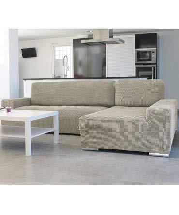 10XDIEZ Funda de sofá Chaise Longue b/Corto Glamour - Color - Beige, Lado - Derecha