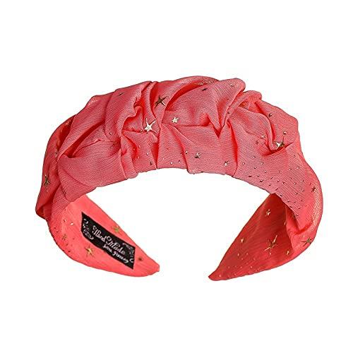 ZYYXB Diadema elástica para mujer, banda elástica para el pelo, cinta elástica para la cabeza, diadema, accesorio para el pelo, color rojo