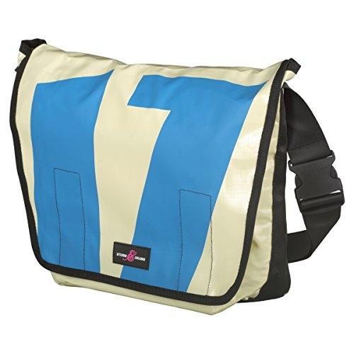 Sturm & Drang - Maxi borsa messenger bag in tela cerata