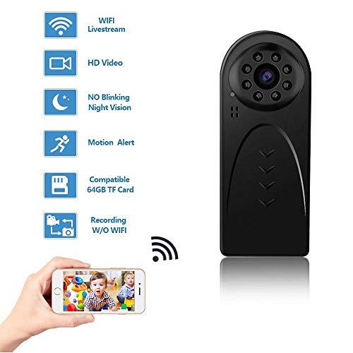 HD 1080P cámara Oculta, Mini WiFi Cámara espía inalámbrico Oculto for la Seguridad de la Oficina en el hogar con visión Nocturna Movimiento de detección de Cuerpo cámara de grabación Interior al Aire