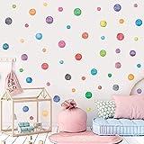Adhesivos de Pared con Puntos de Colores (51 piezas),Vinilo de Pared Puntos para Dormitorio,Habitación Infantil,Guardería, Decoración de Fiestas