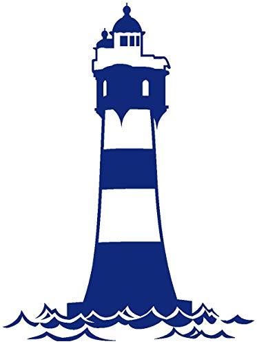 Samunshi® Wandtattoo Leuchtturm 'Roter Sand' in 9 Größen und 19 Farben (15x20cm königsblau)