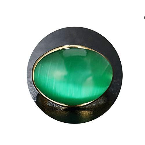 Ubestlove Ring Jahrestag Opale Rétro Edelstahlrings Eheringe Paar Damenring Opal Grün 59