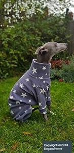 Superbe en polaire pour lévrier Whippet, Lévrier pijamas, maison Manteau M 66–71,1cm L 71,1cm -30cm