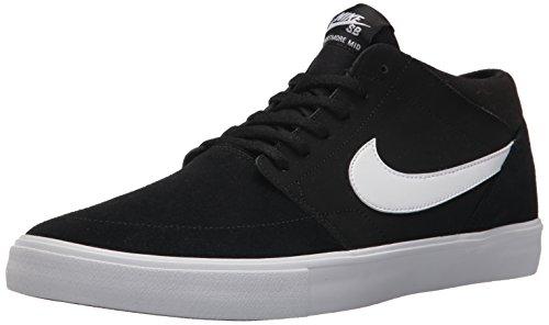 Nike SB Portmore II Solar Mid, Zapatillas de Skateboarding Hombre, Negro (Black/White 011), 49.5 EU