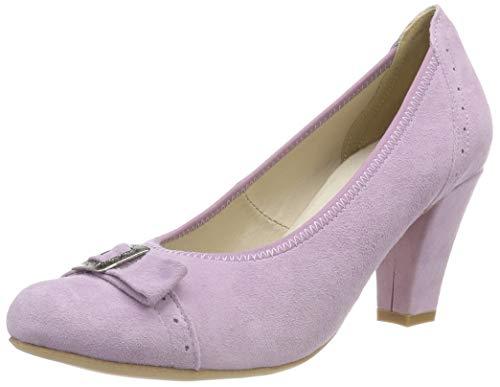 Hirschkogel 3006818, Zapatos de tacón con Punta Cerrada para Mujer, Morado (Flieder 020), 35 EU