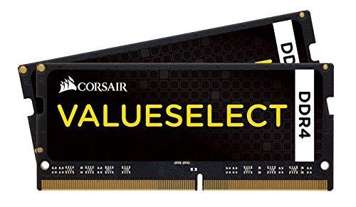 Corsair CMSO8GX4M2A2133C15 Value Select 8GB (2x4GB) DDR4 2133Mhz CL15  Schwarz
